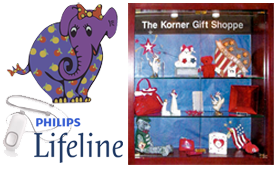 korner gift shoppe lifeline medical alert elephant's trunk