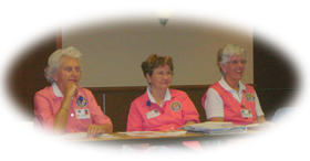 Hospital Volunteers at a meeting